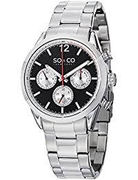 Mens 5004.1 Monticello Quartz GMT Day and Date Stainless Steel Watch