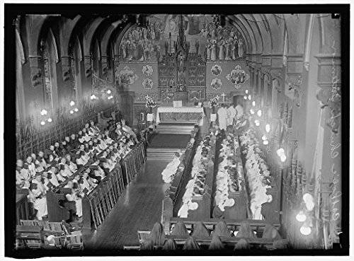 Vintography Reproduced 24 x 30 Photo Dominican House Studies Chapel, Catholic University. The Chapel, Interior 1917 Harris & Ewing a19 by Vintography