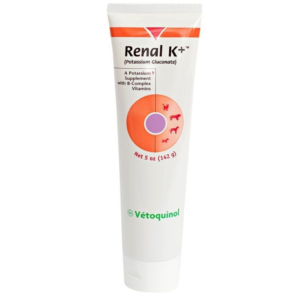 Renal K Gel Potassium Gluconate for Dogs and Cats 5 oz