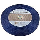 Country Brook Design 1 Inch Navy Blue Nylon Heavy Webbing, 10 Yards