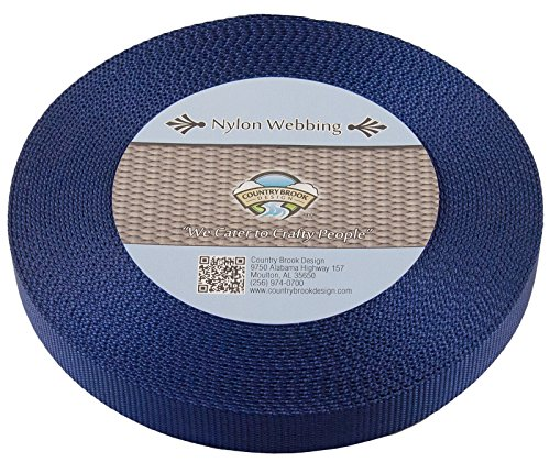 Country Brook Design 1 Inch Navy Blue Nylon Heavy Webbing