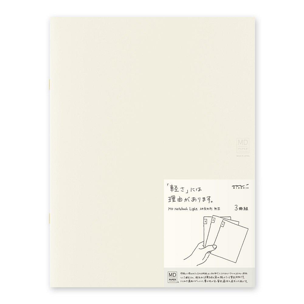 MIDORI MD Notebook Light A4 Variant (Blank) 3 pcs/pack by Desighnphil