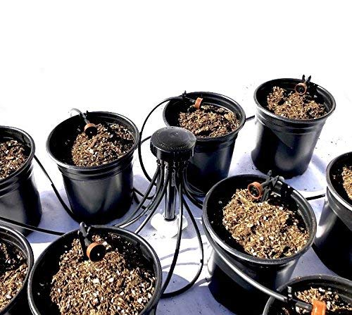 (12-Plant Home Grow Kit - Great Starter Hydroponics Drip Irrigation Kit! - Includes Tubing, Emitters, Manifold, Etc. (Plastic Pots Sold Separately))