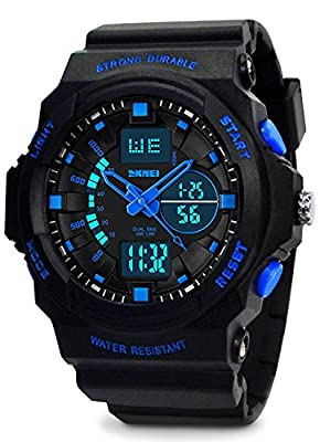 Kids Digital Sports Watch - Boys Waterproof Analog Military Watches With Alarm,Wrist Watch For Children from KIDPER
