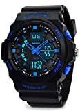 Kids Digital Sports Watch - Boys Waterproof Analog Military Watches With Alarm,Wrist Watch For Children