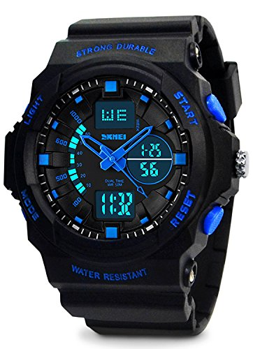 Kids Digital Sports Watch - Boys Waterproof Analog Military Watches With Alarm,Wrist Watch For Children by KIDPER