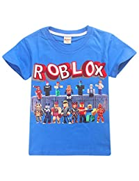 2019 Boys T-Shirts 3D Roblox Cartoon T-Shirt Family Games Tops Tees for Boys Girls, 100% Cotton Made