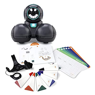 Wonder Workshop Cue Coding Robot with Sketch Kit Bundle – STEM Learning – Learn To Code – Text-Based Chatting