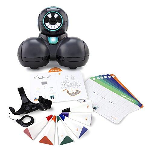 Wonder Workshop Cue Coding Robot with Sketch Kit Bundle - STEM Learning - Learn To Code - Text-Based Chatting