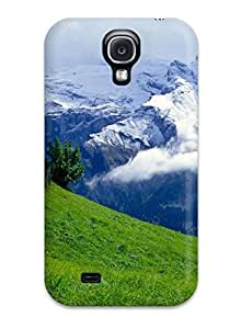 7381583K39824616 Green Over Clouds Fashion Tpu S4 Case Cover For Galaxy