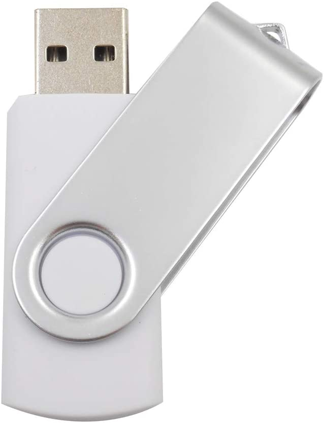 1GB, White, 100pack Swivel USB Flash Memory for Students