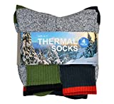 TeeHee Recycled Cotton Thermals Boot Socks 4-Pack, Assorted, Size 10-13