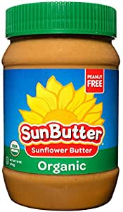 SunButter Organic Sunflower Butter Single Ingredient, 16 Ounce, Pack of 6