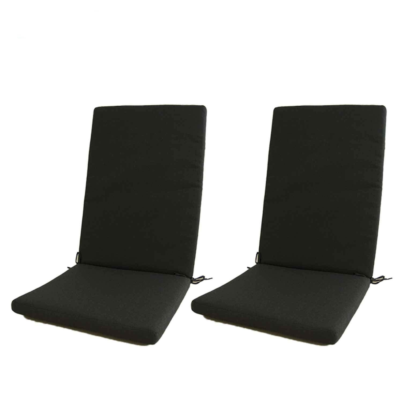 Edenjardi Confezione 2 cuscini deluxe per esterni color blu, per poltrona reclinabile | Dimensioni: 48x114x5 cm | Repellente all'acqua | Sfoderabile | Spese di spedizione gratuite