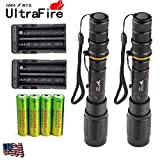 2Sets 12000 Lumens 5Modes Ultrafire SWAT 10W T6 LED Flashlight 18650+Charger USA