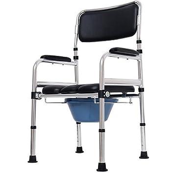 Asiento de inodoro plegable para silla de inodoro de aluminio, silla de baño para discapacitados