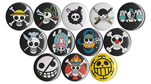 Set of 12 One Piece Anime Jolly Roger 1