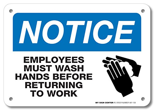 Notice Employees Before Returning Sign