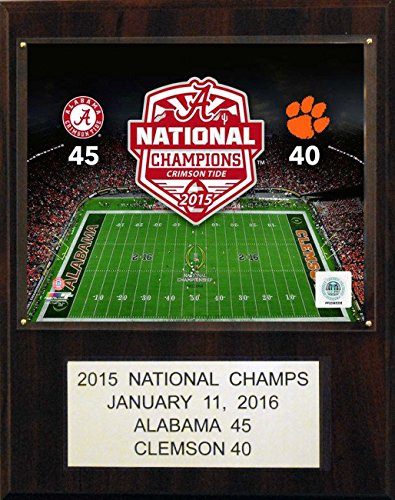- C&I Collectables NCAA Alabama Crimson Tide Football 2015 National Champions Plaque, 12