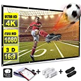 Rhungift120inch Projector Screen 16:9 HD Outdoor Portable Foldable Anti-Crease Projection Screen Support Double Sided Projection