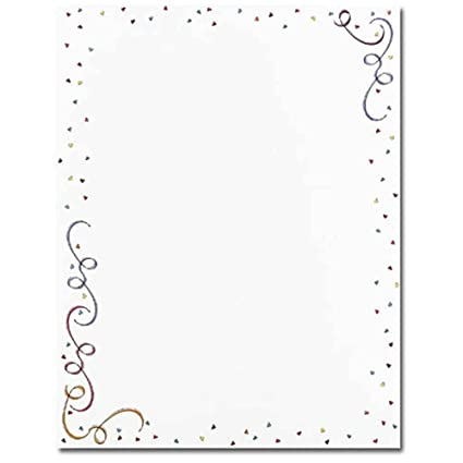 party elements border new years celebration computer printer paper