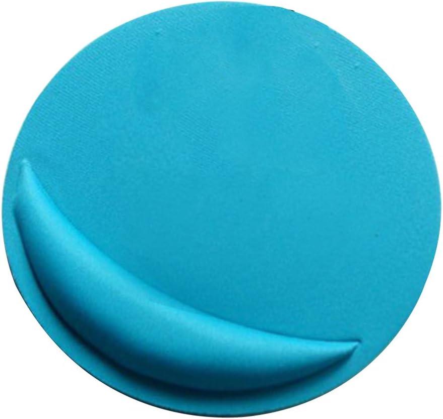 Daliuing Tapis de Souris Rond Anti-d/érapant en Gel de silice Tapis de Souris Tapis de Souris pour Ordinateur Portable//Ordinateur-Bleu 21x21x0.4CM