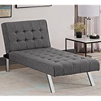 Avenue Greene Ella Grey Linen Chaise Lounger