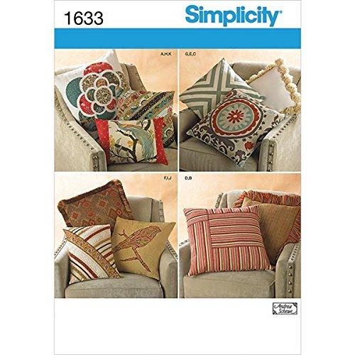 Simplicity Creative Patterns 1633 Decorative Pillows