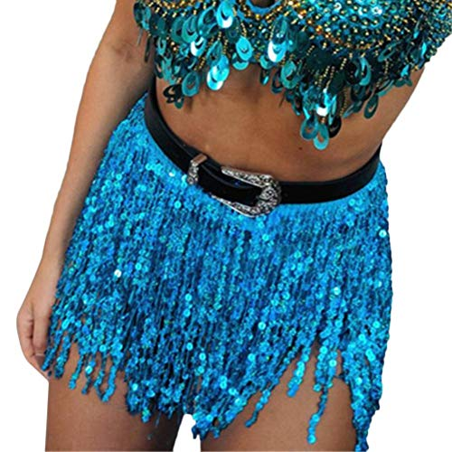 Tutu Jupe de Danse Taille Ballet Jupe Gland Robe Haute Club Bleu Femme Mode Jupe Nuit de Ventre nrTBn8x41