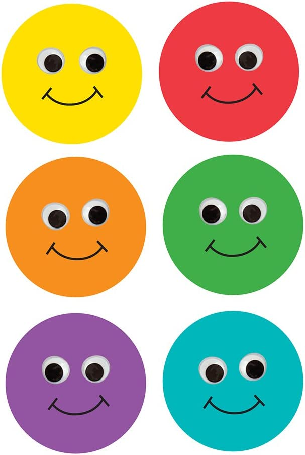 Hygloss Products, Inc 33710 Happy Multi-Color Smiley Face Classroom Accents – Creative Teaching Resources – 6 Inches, 30 Pack: Arts, Crafts & Sewing