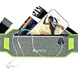 Running Waist Pack,AIWEISI Sweatproof Ultra-thin Sports Belt Fanny Pouch for iPhone 6 6s 7 Plus Samsung Galaxy S5 S6 S7 Edge Note 5 LG HTC for Gym Jogging Biking Workout for Men and Women