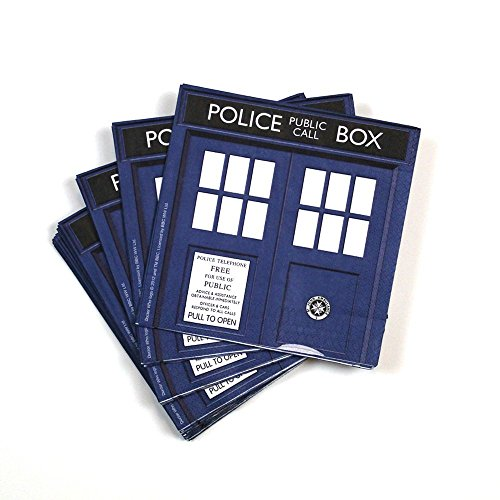 Underground Toys Doctor Who Party Napkins, Set of (Doctor Who Birthday Party Supplies)