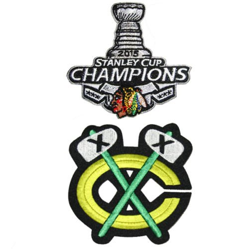 Chicago Blackhawks Stanley Cup 2015 +Chicago Blackhawks Champions Hockey Jersey Embroidered Iron on Patch