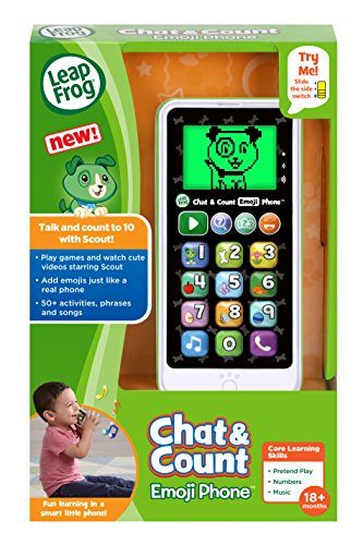 51ODhseRs0L - LeapFrog Chat and Count Emoji Phone, White