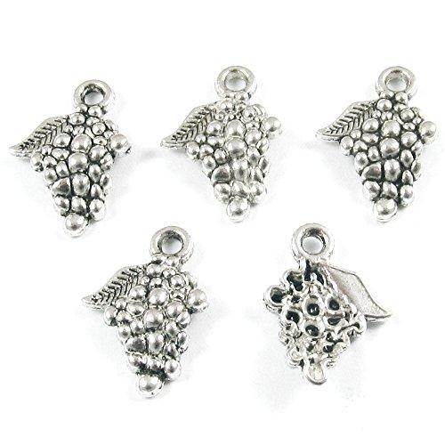 silver grape charms - 8