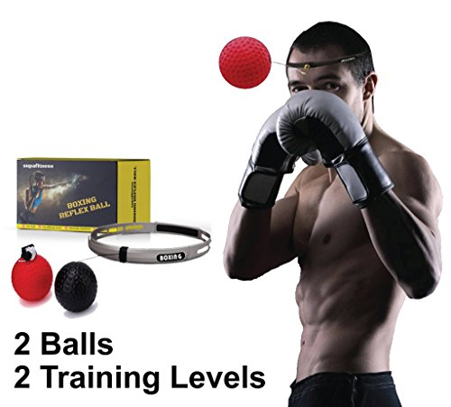 SupaFitness [Upgraded Design] Boxing Reflex Ball Headband With String, Speed Reaction Ball Trainer For Kids And Adults