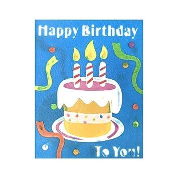 Amazon.com: Jabón tarjeta de felicitación – Feliz cumpleaños ...