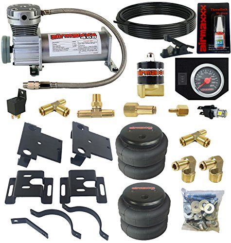airmaxxx Air Over Load Tow Kit & Compressor Fits 2001-10 Chevy 2500 3500 Trucks Air Assist Kit