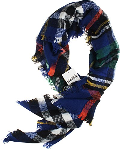 Vivian & Vincent Childrens Soft Classic Luxurious Cashmere Plaid check Squre Scarf for Kids