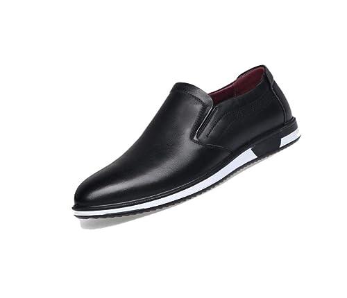 Calzado De Cuero para Hombres, Suave, Suave Y Suave, Transpirable, De Mediana Edad, para Uso Casual, para Empresas.: Amazon.es: Zapatos y complementos