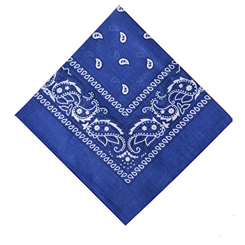 6 Pack Cotton Bandanas Headband Stylish Bandana for Multipurpose Use,Blue (Stylish Bandana)