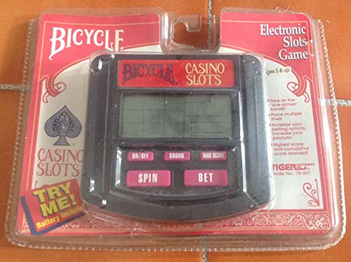 Old Stock 1994 Handheld Bicycle Electronic Casino Slots Game Tiger 75-037