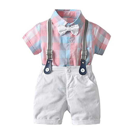 0a564b723 Amazon.com: Kids Gentleman Outfits - Toddler Baby Boy Fashion Summer ...