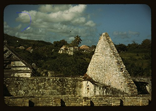 Reproduced Photo of Ruins of an Old Sugar Mill and Plantation House, Vicinity of Christiansted, Saint Croix, Virgin Islands 1941 Delano C Jack 16a