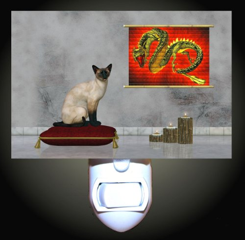 Siamese Cat Decorative Night Light (Siamese Cat Lamp)