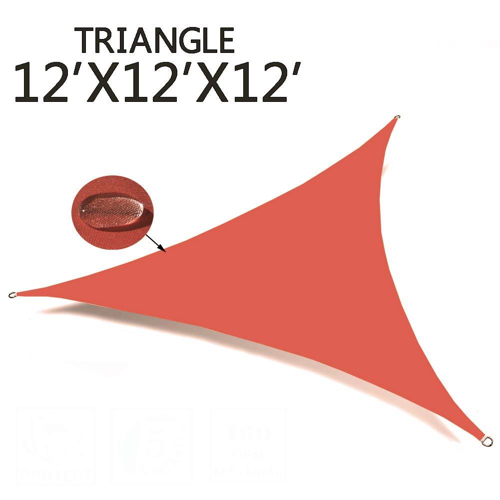 SUNNY GUARD 12' x 12' x 12' Orange Red Triangle