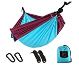 ELC HAMMOCK Camping Hammocks Single Double Hammock Ultralight Portable Nylon Parachute Lightweight Hammocks with Hanging Straps and Carabiners for Hiking, Backpacking, Travel, Beach, Yard