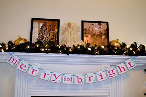Christmas Done Bright.Amazon Com Christmas Banner Merry And Bright Banner