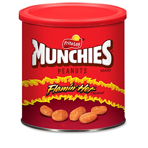(Munchies Flamin' Hot Flavored Peanuts, 16 Ounce (4 Canisters))