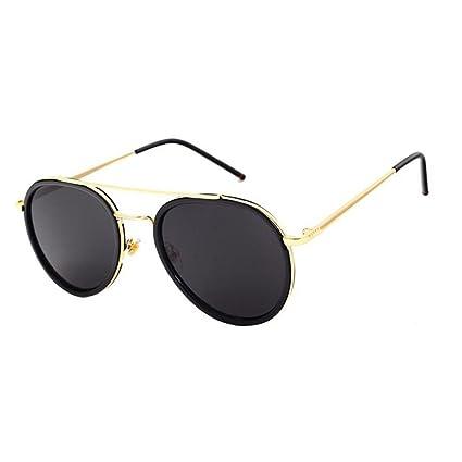 2228ca7175 QZ HOME Gafas De Sol Vintage Estilo Harajuku De Moda Borde Transparente Protección  UV Espejo (
